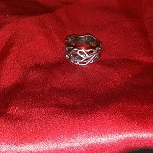 Goth Punk Silver Tree Branch Ring 6.5!
